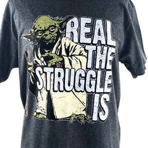 Star Wars NWT Charcoal 50/50 Crew Neck Tee Size M
